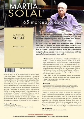 Martial Solal 65 compositions